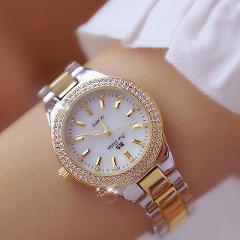 2019 Luxury Brand lady Crystal Watch Women Dress Watch Fashion Rose Gold Quartz Watches Female Stainless Steel Wristwatches 2018