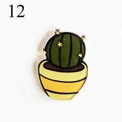 1PCs/Set Cartoon Cactus Bonsai Brooch Acrylic Badges Icons On The Backpack Pin Badge Decoration Badges For Clothing DIY