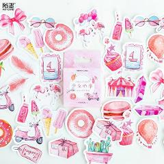 1pcs Girl's Dream Pink Sticker Wall Stickers For Kids Rooms Boys Girls Children Bedroom Home Decoration
