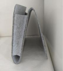 Christmas Grey Bed Storage Pockets Felt Bedside Hanging Storage Organizer Holder with 1 Inner Pockets for Bed Table Sofa