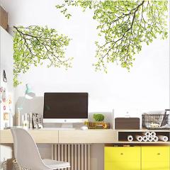 Green Leaves Tree Branch flowers Wall Stickers Home Decor Living Room Kids Room 3D Vinyl Wall Decal Wallpaper Removeable Mural
