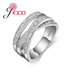 Big Sale Brand Fashion 925 Sterling Silver Jewelry Cubic Zircon Crystal Engagement Wedding Rings For Women Anillo Bijoux