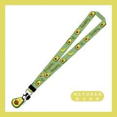 1pcs  avocado Cartoon art Lanyard Neck Key Strap for iPhone Camera USB Holder ID Card Name Badge Holder Keys Cartoon Lanyards