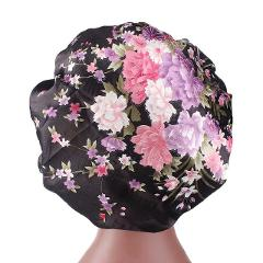 KANCOOLD Hat woman Satin Printed Wide-brimmed Hair Band Sleep Cap Chemotherapy Hat Hair Cap high quality hat woman 2018NOV15