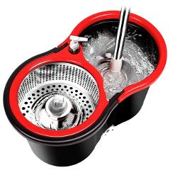 iFun floor mop spin mop floor cleaner and reinforced bucket system with 2pcs extra mop head
