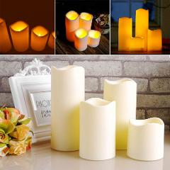 Hot Sale Cylindrical Flickering LED Candle Light Flameless for Garden Yard / Christmas Lamp Decoration