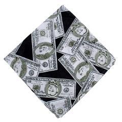 Men Women Fashion Personality Print Headscarf Reggae Dollar Pattern Square Towel Multi-function Sunscreen Outdoor Sports Mask Sc