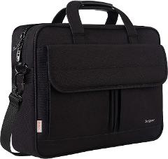 Laptop Bag 15.6 Inch, Business Briefcase for Men Women, 15inch Water Resistant Messenger Shoulder Bag with Strap, Durable Office Bag, Taygeer Carry On Handle Case for Computer/Notebook/MacBook,Black