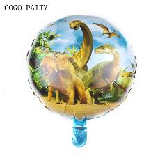 GOGO PAITY   New 18-inch round dinosaur aluminum balloons Children's holiday party layout decorative balloons Self-sealing