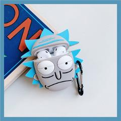3D Cute Cartoon Star wars Jamular Cartoon Rick Headset Protective Case For Airpods 1 2 Case Wireless Earphone Cover With Lanyard