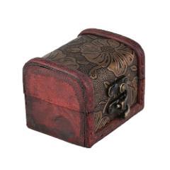 Personal Jewelry Display Box Necklace Bracelet Rings Storage Organizer Wooden Storage Case Gift Box Vintage Design