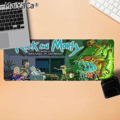 MaiYaCa New Design Hot Popular Cartoon Manga Anime Rick and Morty Computer Gaming Mousemats Durable Rubber Mouse Mat Pad