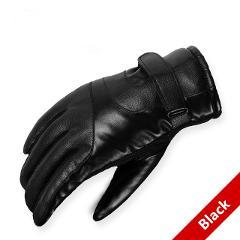 2017 Hot Sale Men sheepskin gloves genuine leather glove for men winter Outdoor warm fur thickening thermal patchwork gloves