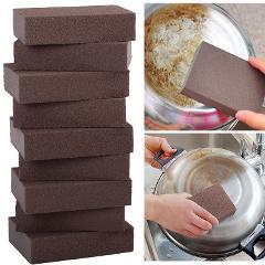 Carborundum Sponge Brush Kitchen Cleaning Washing Tool Rust Removing Cleaner Kitchen Home Rust Removing Cleaner Stain Removal