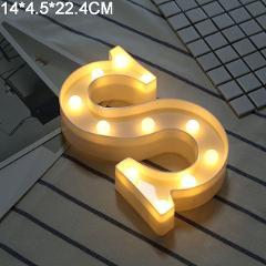 Luminous LED Letter Night Light Creative 26 English Alphabet Number Battery Lamp Wedding Decoration Valentine's Day Gift