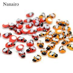 100PCS/Lot Home Decoration Mini Bee Wooden Ladybug Sponge Self-adhesive Stickers Fridge/Wall Sticker Kids Scrapbooking Baby Toys