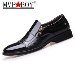 Classic Business Men's Dress Shoes Fashion Elegant Formal Wedding Shoes Men Slip On Office Oxford Shoes For Men Black Plus 38-47
