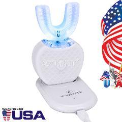 Wireless Automatic 360°Electric Sonic Toothbrush Teeth Whitening Nano Blue Light