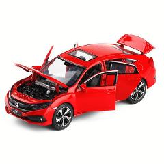 1:32 Honda 2019 Civic Car Zinc Alloy Toy Car Metal Diecast Vehicle Sound Light Cars Model Childrens Gift Toys For Boys