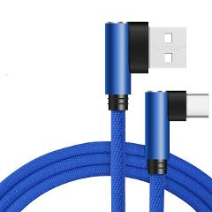 CXV 90 Degree Type C USB Cable for Huawei P20 P30 Pro Fast Charging USB C Cable For Samsung S10 S9 Xiaomi Redmi USBC Data Cable