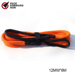 Free Shipping 12mm*6m Kinetic Recovery Rope,Energy Recovery Rope,Double Braided Nylon Rope for 4X4 OFF ROAD