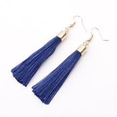 ZCHLGR Fashion Bohemian Tassel Long Earrings White Red Silk Fabric Drop Dangle Tassel Earrings For Women 2019 Jewelry