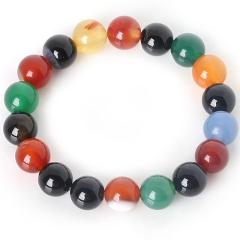 Charm Bracelet With Natural Stone Beads 6 8 10mm Purple Amethysts Yoga Beaded Bracelet For Women Man Best Friend Gift