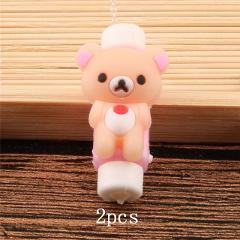 2pcs Cartoon Cable Protector  For iPhonexs 5s 78 plus Cute  Stitch Animal Cable Winder USB Charging Data Line Cord Protector