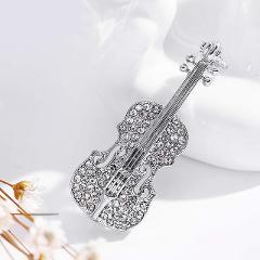 LNRRABC Fashion Women pins Personality brooches Crystal Rhinestones Violin Brooches Pin Jewelry Accessories brooch