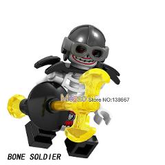 Bone Soldier Frakjaw Garmadon Weapon Skeleton Army Ninja Building Blocks Action  gift Toys for Children