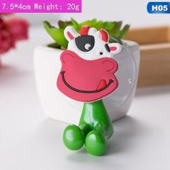 1Pcs Animal Cute Cartoon Suction Cup Toothbrush Holder Bathroom Accessories Set Wall Suction Holder Tool