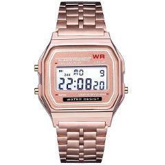 LED Digital Quartz Wrist Watch Dress Golden Wrist Watches Women Men For Kids Clock Business Men Boys Sports Traveling