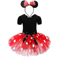 Baby Girls Minnie Mickey Princess Dress Kids Christmas Cartoon Mouse Clothes Headband Children Carnival Birthday Party Costumes