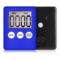 1pcs 8 Colors Super Thin LCD Digital Screen Kitchen Timer Square Cooking Count Up Countdown Alarm Magnet Clock Temporizador