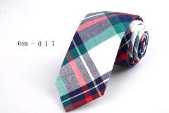 Classic 6cm Casual Slim Cotton Tie white black striped Plaid Linen Necktie For Men Business Wedding Party Neck Ties Accessories