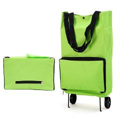 Foldable Shopping Trolley Wheel lightweight Folding Bag Traval Cart Luggage Green