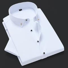 Quality Good Diamond Button Party Formal Plaid Dress Shirts Men Long Sleeve Shirt Turn Down Slim Fit Casual Camisa Masculina