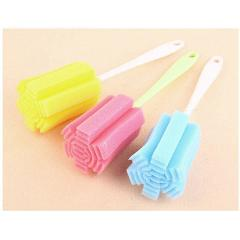 1PCS Long Handle Sponge Brush Bottle Brushes Cup Glass Washing Cleaning Cleaner Tool dropshipping Random Color