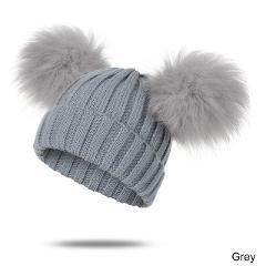 Newborn Baby Pom Winter Hat Cap Fur Baby Hat Cap Cotton Pompom Knitted Warm Hat For Kids Beanies Skullies Furry Balls Beanie Cap