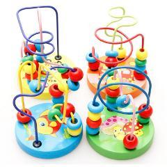Baby Toddler Educational Lovely Animals Round beads Kids Toys For Newborns Children Cribs Stroller Mobile Montessori 9*11cm 2018