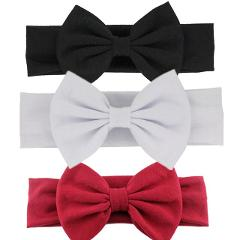 3 Pcs/Set Solid Bows Baby Headband Cottons Bowknot Haarband Baby Girl Headbands Cotton Kids Hair Band Girls Hair Accessories