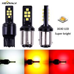 2pcs P21W led BA15S 1157 P21/5W BAY15D T20 led 7440 W21W T15 BAU15S 3030 Chips LED Car Reserve Lamps Auto Brake Light CANBUS