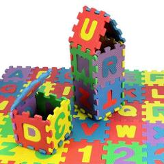 36Pcs/Set Child Kids Novelty Alphabet Number EVA Foam Puzzle Learning Mats Toy