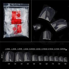 2018 Hot Sale 500 Pcs Fake Artificial Nails Sticker Natural Acrylic False Toe Nails Tips Fail Feet Toenail nep nagels faux ongle