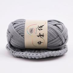 Retail 100g/ball Thick Cloth Fabric Strip Yarn 100% Polyester Craft Hand Knitting Crochet DIY Cushion Blanket Cloth Strip JK493