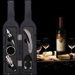 1 Set 3pcs/5pcs Wine Bottle Corkscrew Set Tool Bottle-Shaped Holder Bottle Opener Gift P7Ding
