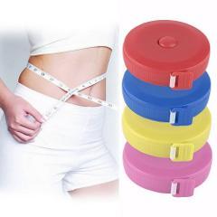 1.5 M Retractable Ruler Tape Measure Sewing Cloth Dieting Tailor Fitness Caliper Measuring Body Gauging Tool random color
