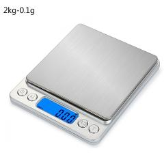 0.01/0.1g New Precision LCD Digital Scales 500g/1/2/3kg Mini Electronic Grams Weight Balance Scale for Tea Baking Weighing Scale