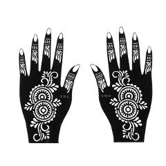 Fashion Henna Tattoo Stencil Temporary Hand Tattoos DIY Body Art Paint Sticker Template Indian Wedding Painting Kit Tools