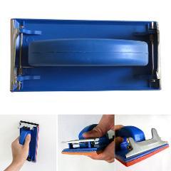Paper Holder Polishing Sanding Cloth Frame Hand-held Home Improvement Tool Flat Sand Grinding Wall Plastic Sponge Shelf Rack
